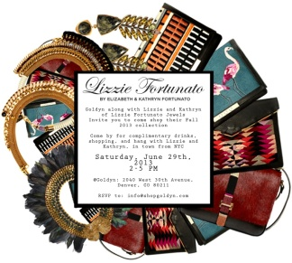 Invite for Lizzie Fortunato Trunk Show & In-Store Appearance at Goldyn