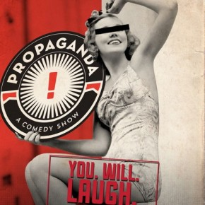 Invite for Propaganda comedy show.