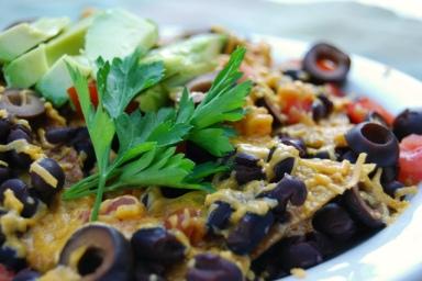 A photo of vegan nachos.