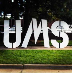 Photo of UMS sign.