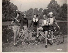 Girls & Their Vintage Bicycles (1)