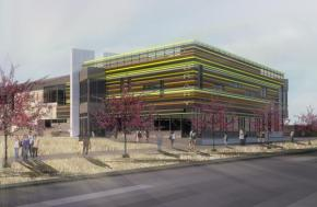 Artist rendering of the new library on the westside