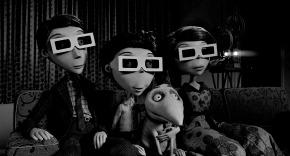 """""""FRANKENWEENIE""""  (L-R) Mr. FRANKENSTEIN, VICTOR, SPARKY and Mrs. FRANKENSTEIN. ©2012 Disney Enterprises. All Rights Reserved."""